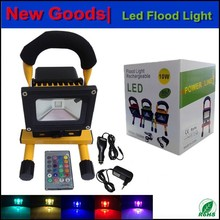2 years warranty for 10w led flood light rgb rechargable