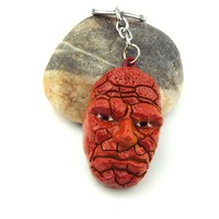 Movie Fantastic Four Ben Grimm The Thing 3D Orange Metal Key chain Ring unique gifts K-289