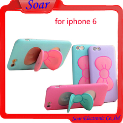 Stripped silicone case for iPhone 6,for iPhone 6 lovely design cell phone case