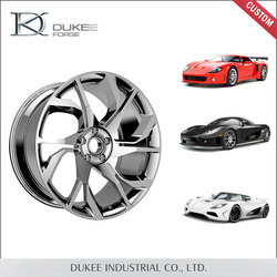 Wholesale forged competitive price widely used aluminium wheel car with high quality