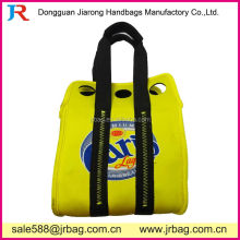 Yellow 6 Bottle Neoprene Handle Bags