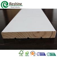 White Primed Double Solid Wooden Rebated Flat Door Jamb