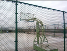 Basketball fence netting used chain link fence