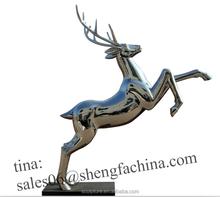 stainless steel outdoor small deer statue garden statues