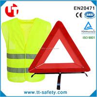 reflective safety vest warining triangle roadside assistance Kit