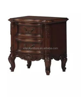 Carved wooden night stand A885