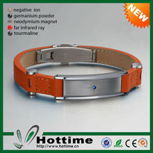 Hottime Original Classic 4 in 1 Bio Magnetic Leather Bracelet
