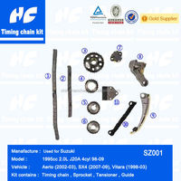 Timing chain kit used for Suzuki 1995cc 2.0L J20A 4cyl 98-09 Aerio (2002-03) Sx4 (2007-09) Vitara (1998-03)