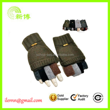 Promotional cheap half finger wool gloves