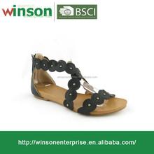 Fashion 2016 New Designs Flat Sandals Sweet Flower Sandals Women Sandals