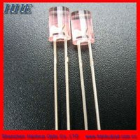 Hot sell 5mm 660nm red Flat top led with ROHS