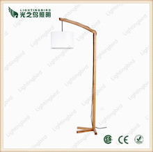 2015 artistic wooden lamp made by zhongshan professional wood floor lamp manufscture