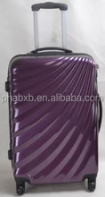 high quality purple cheap ABS travel luggage
