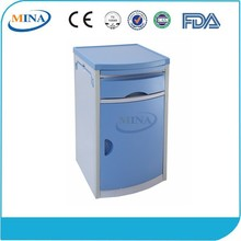 MINA-BS02 CE ISO cheap ABS hospital night stand with drawer