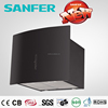 New Sliding Touch Switch Black Range Hood for Kitchen Air Exhaust