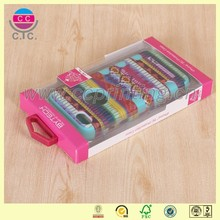 Hot sale flat pack pvc window cell phone case packaging box
