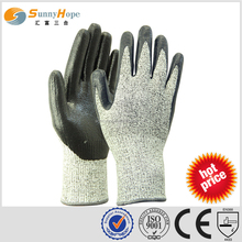 SUNNYHOPEE EN388 smooth coated nitrile cut protecting working glove