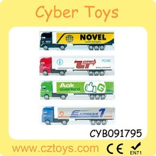 2015 hot sale 1:64 scale toy container truck model wholesale diecast truck model toy for promotion