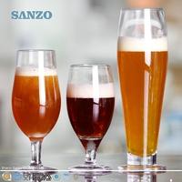 SANZO Hand Blown Novelty German Beer Glass With Print Logo
