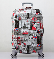 quality stock fashion trolley luggage 4 wheels ABS/PC