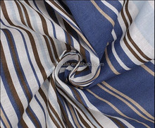 More matching color striped 100% cotton printing fabric/for garment accessories/for women's clothing