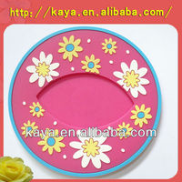 Anti-slip ATBC-PVC tea cup coaster / Cup mat