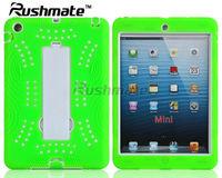 PC Silicone Combo Kickstand Cases For Ipad Mini Shinny Tablet Cover