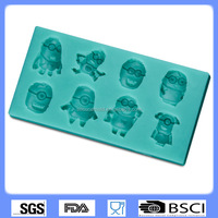 silicone fondant mold chocolate cake decorating die the little yellow guy spoof style CD-F347