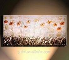 Popular hecho a mano resumen texured pinturas de arte sobre lienzo, decoración para el hogar de la flor de la pintura