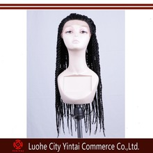 Chinese Remy Human Hair Hand Made Full Lace Braid Lace Wig For Black Woman