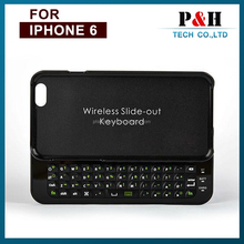 """Sliding Mini Wireless Bluetooth Keyboard Hard Cover Case For iPhone 6 4.7"""""""