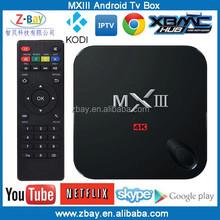 Best XBMC Media player amlogic s802 quad core mxiii android tv box