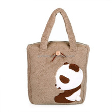 panda print bag plush affordable handbag for practical use