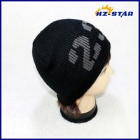 HZM-10504001 23word jacquard hot sell sport made of 100 acrylic cheap teenagers knitted beanie hats