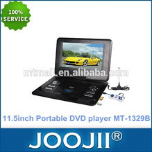 Portátil barato 11 pulgadas reproductor DVD PAL / NTSC / SECAM / ISDB-T sistema de TV
