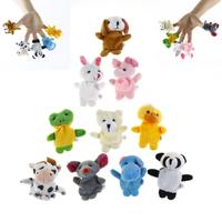 Cartoon Animal Finger Doll toys 10pcs Velvet Finger Animal Puppet Play Learn Story Toy Cute Cartoon Finger Puppets