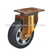 Mingze 811 series type Mold on Elastic rubber Industrial Swivel Caster and wheel