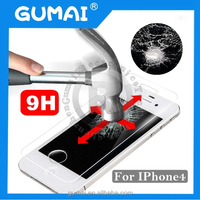 Glass Screen Protector For iphone4 Factory supply 0.33mm&0.26mm 9H 2.5D Wholesale For Phone accessories&welcome OEM/ODM