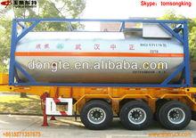 Dongteiso tank container asse 2/3 plastica- acciaio rivestito chimico liquido semi rimorchio cisterna, semi- trailer hcl, naoh, nacio h2so