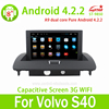 8inch Touch Screen 3G Wifi MP3 Player Android 4.2 Volvo S40 Car Stereo