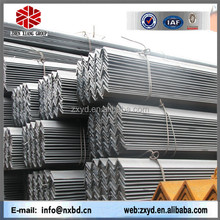 china big supplier cold and hot rolled equal/unequal black & galvanized steel angle iron
