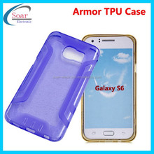 Newest! Hot Selling 2015 Newest Slim Armor TPU Back Cover Case For Sasmung Galaxy S6/S6edge