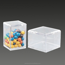 Simple design clear acrylic candy bin with scoop