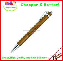 Factory prices logo engraved Wood pen