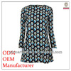 2015 latest fashion garment factory long laced lady dress with long sleeves