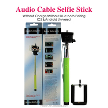 Import cheap goods from china Z07-5 Plus camera tripod extendable selfie stick with Cable best gifts wired monopod pen stick