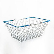 Competive Price Chrome Plated Supermarket Metal Wire Basket