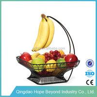 Home storage baskets cheap metal fruit basket stand hanging banana