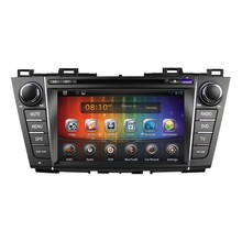 Pure Android 4.4.4 Touch Screen car DVD player car DVD GPS for Mazda 5 Premacy 2009-2012 with 3g WiFi bluetooth