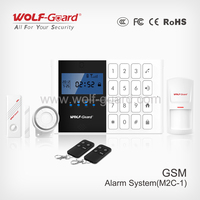 2015 New China Supplier CE Approved Mobile Call GSM Alarm System with LCD Screen, Keypad, and Voice